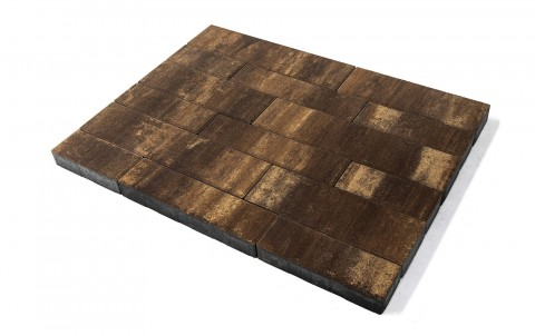 Тротуарная плитка BRAER Домино, каштан, h= 60