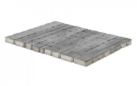 Тротуарная плитка BRAER Классико, Color Mix туман, h=60