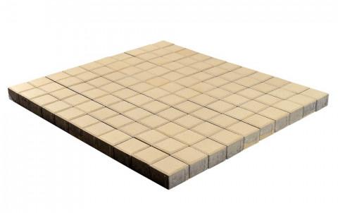 Тротуарная плитка BRAER Лувр, песочный, 100x100, h=60