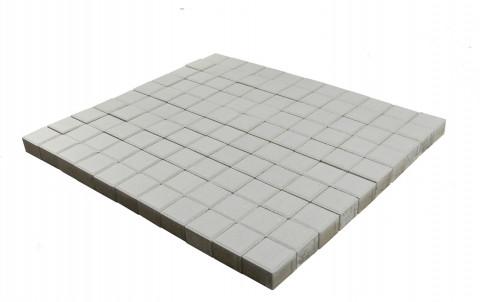 Тротуарная плитка BRAER Лувр, белый, h= 60, 100x100