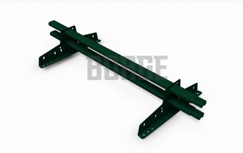 снегозадержатель BORGE для металлочерепицы цвет RAL6005, 1м