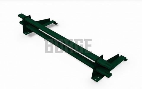 снегозадержатель BORGE для металлочерепицы с высокой ступенькой цвет RAL6005, 1m