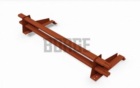 снегозадержатель BORGE для металлочерепицы с высокой ступенькой цвет RAL8004, 1m