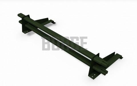 снегозадержатель BORGE для металлочерепицы с высокой ступенькой цвет RR29, 1m