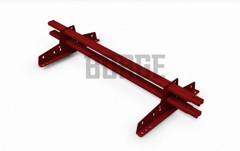 снегозадержатель BORGE для металлочерепицы цвет RAL3011, 3м