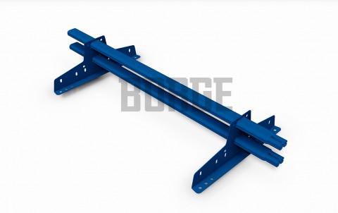 снегозадержатель BORGE для металлочерепицы цвет RAL5005, 3м