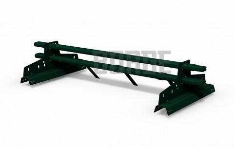 снегозадержатель BORGE для профнастила H-114 цвет RAL6005, 1m