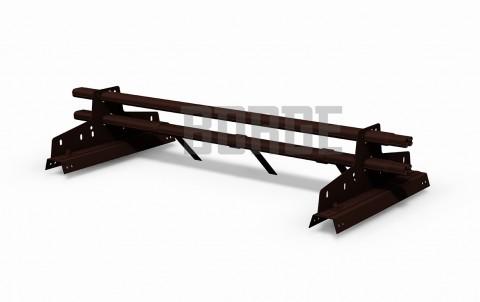 снегозадержатель BORGE для профнастила H-114 цвет RAL8017, 1m