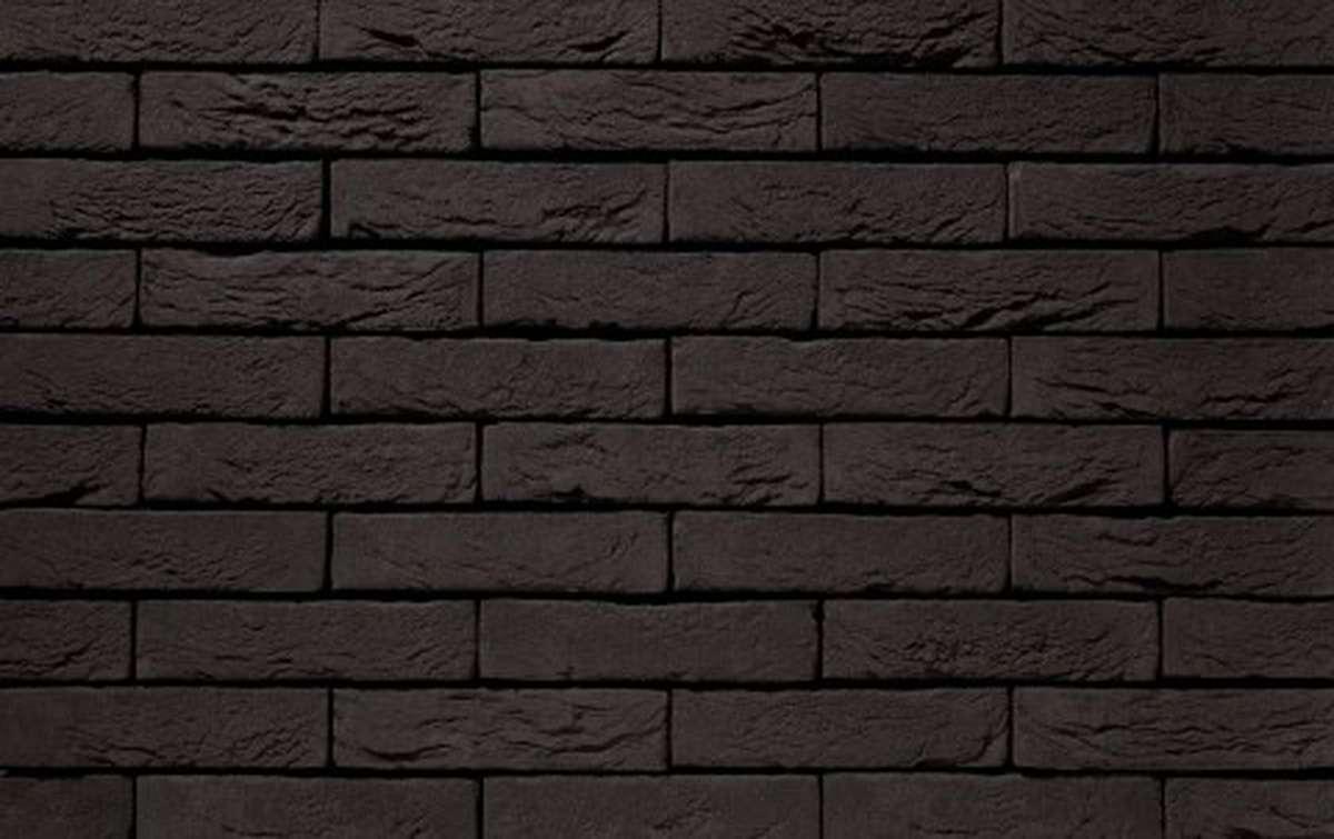 Фасадная плитка ручной формовки vandersanden  1. Zwart Mangaan, М50 рядовая