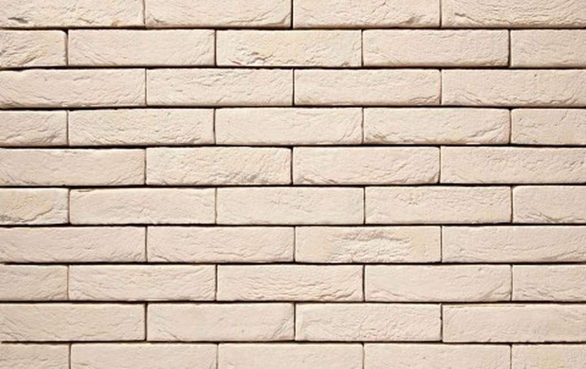 Фасадная плитка ручной формовки vandersanden  38. Créme, М50 рядовая