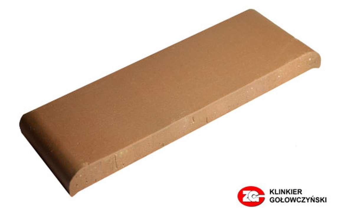 Парапетная плитка (Плоский профильный кирпич) ZG, 305x110x25, красный