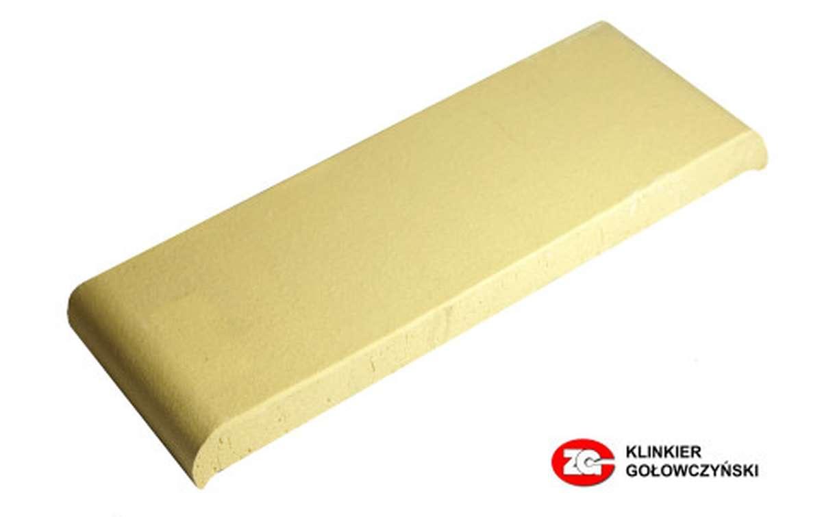 Парапетная плитка (Плоский профильный кирпич) ZG, 305x110x25, желтый