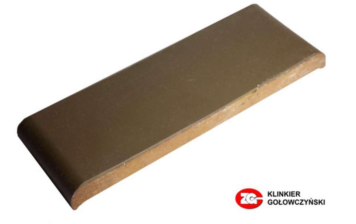 Парапетная плитка (Плоский профильный кирпич) ZG, 305x110x25, коричневый
