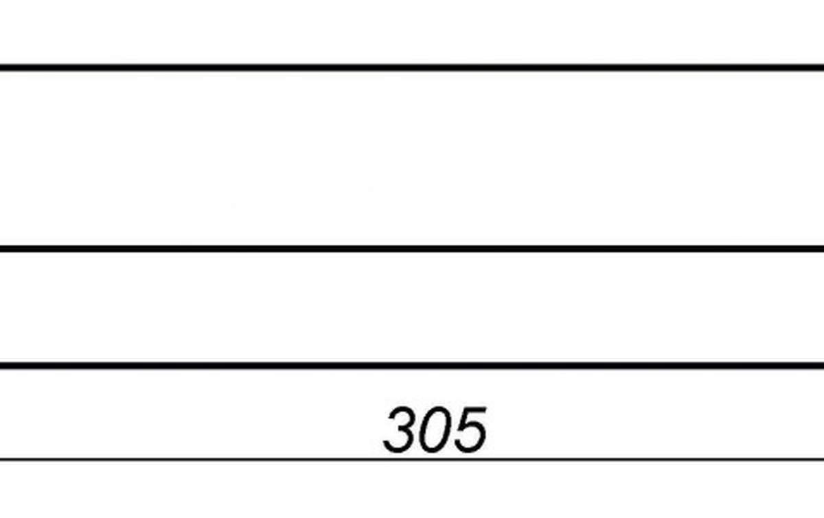 Парапетная плитка (Плоский профильный кирпич) ZG, 305x110x25, желтый тушевой
