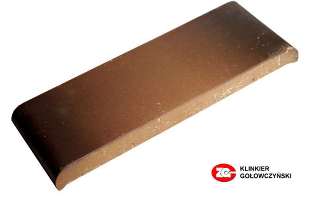 Парапетная плитка (Плоский профильный кирпич) ZG, 305x110x25, каштановый