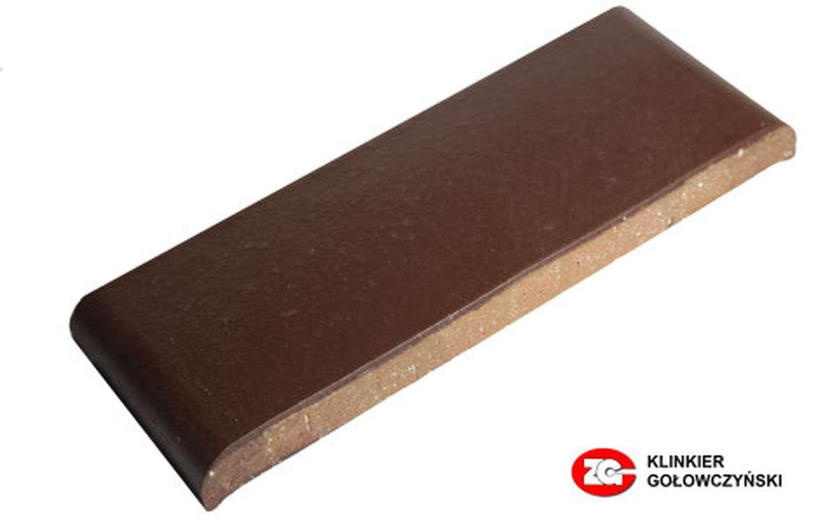 Парапетная плитка (Плоский профильный кирпич) КР30K ZG, 305x110x25, вишневый
