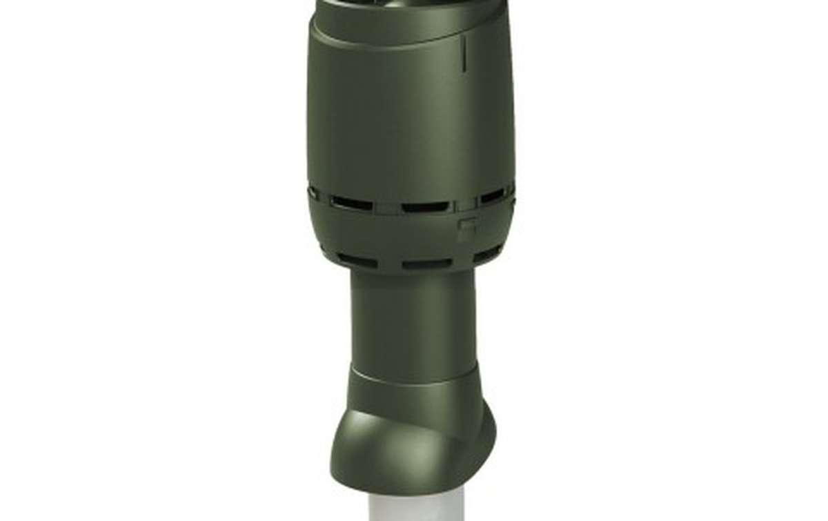 Вентиляционный выход VILPE изолированный с колпаком (h=500, d=125/160), зеленый