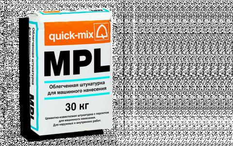 Штукатурка QUICK-MIX MPL wa, цвет серый