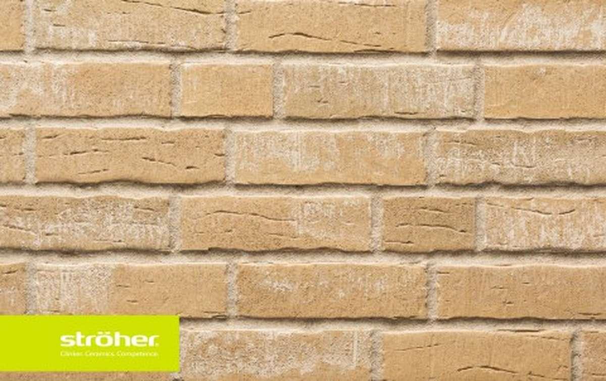 фасадная клинкерная плитка STROEHER silberbeige, размер  240x71x14