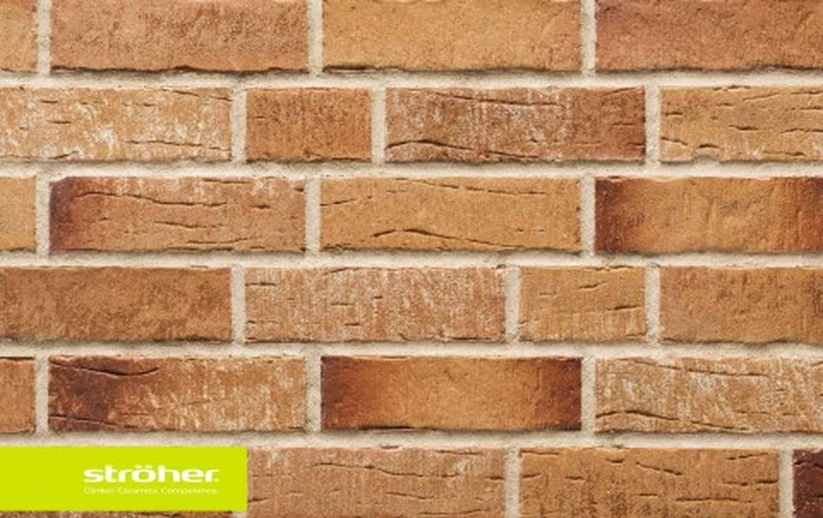 фасадная клинкерная плитка STROEHER amberbeige, размер  240x71x14