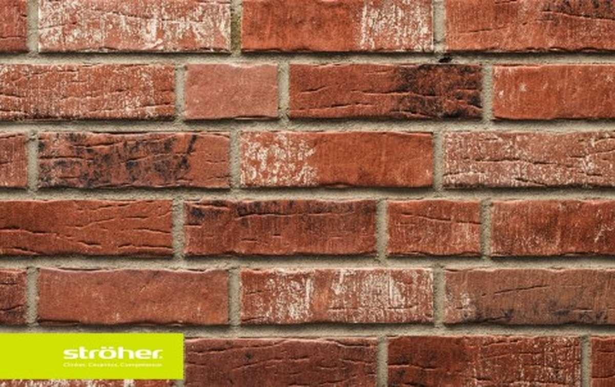 фасадная клинкерная плитка STROEHER shabbyrot, размер  240x71x14