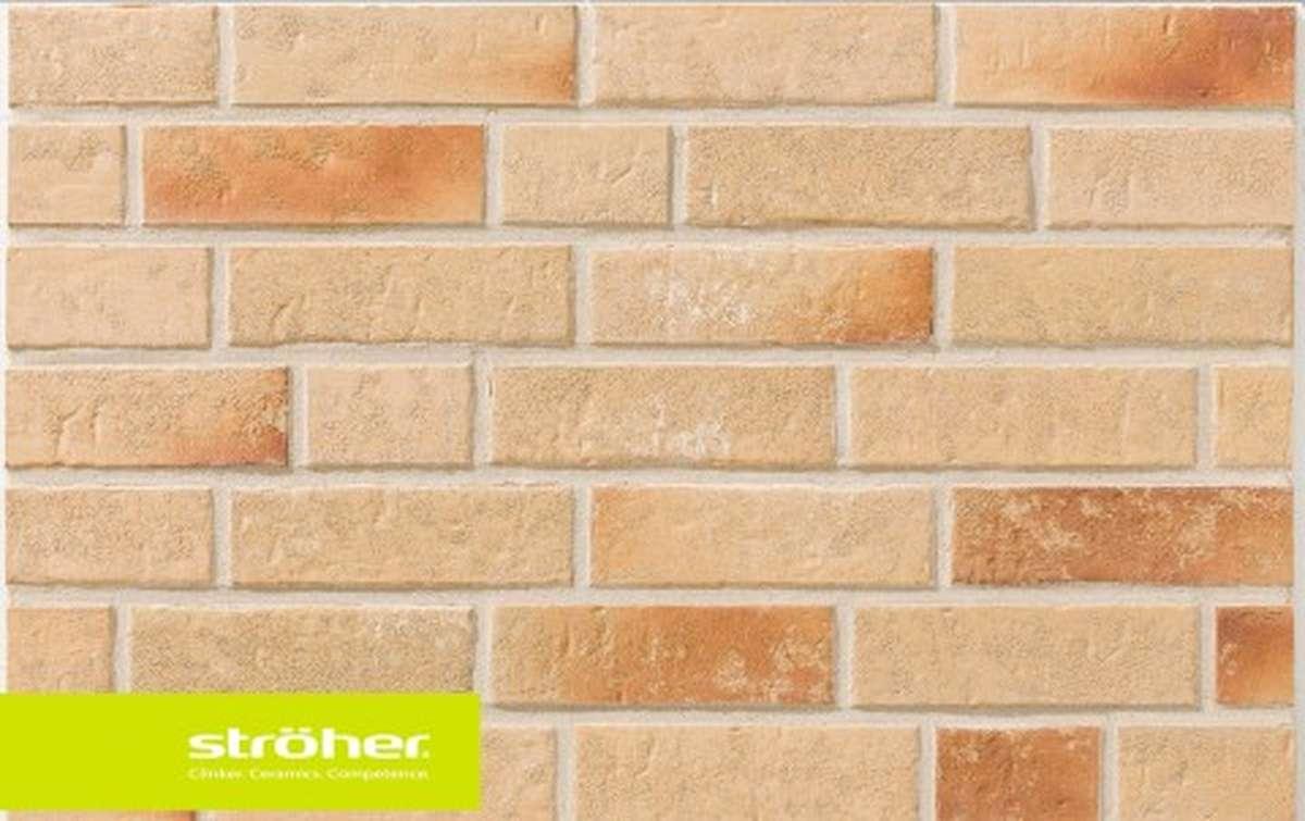 фасадная клинкерная плитка STROEHER kupferschmelz, размер  239x65x16