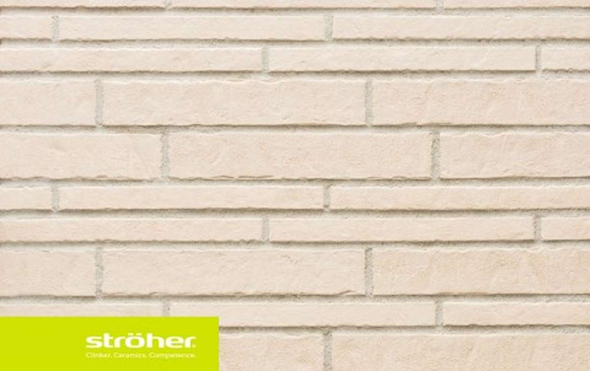 фасадная клинкерная плитка STROEHER kalkbrand, размер  400x35x14