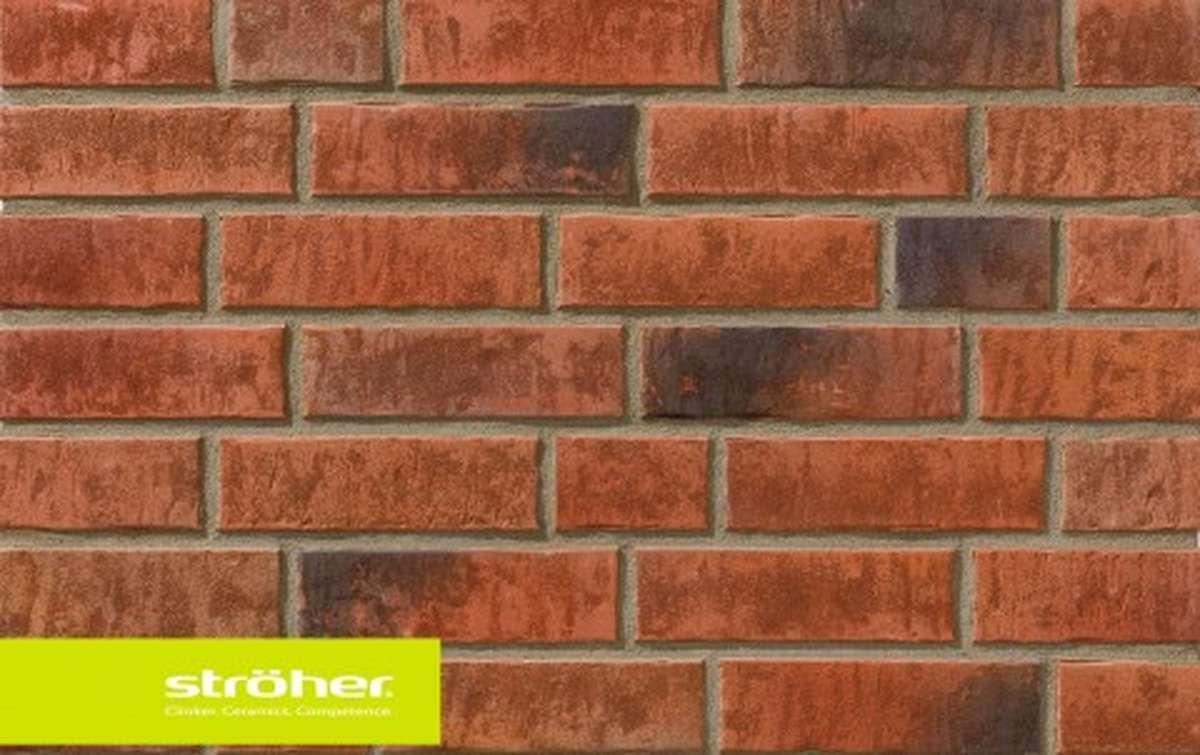 фасадная клинкерная плитка STROEHER eisenrost, размер  240x71x14