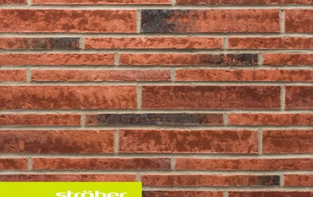 фасадная клинкерная плитка STROEHER eisenrost, размер  400x35x14