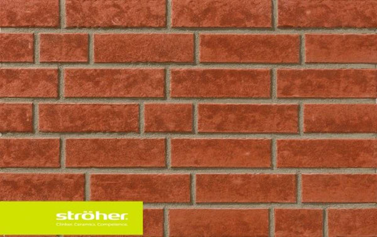 фасадная клинкерная плитка STROEHER erdfeuer, размер  240x71x14
