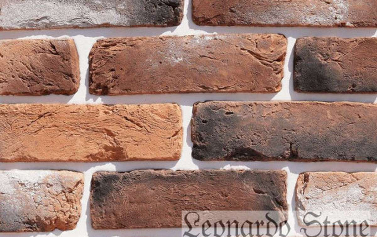 Фасадная плитка Leonardo Stone декоративный кирпич Орлеан 485