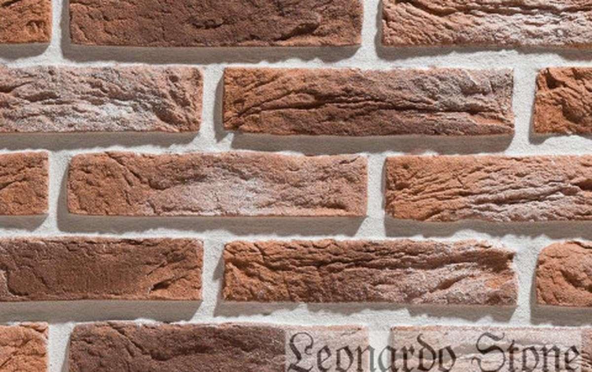 Фасадная плитка Leonardo Stone декоративный кирпич Иль-де-Франс 485