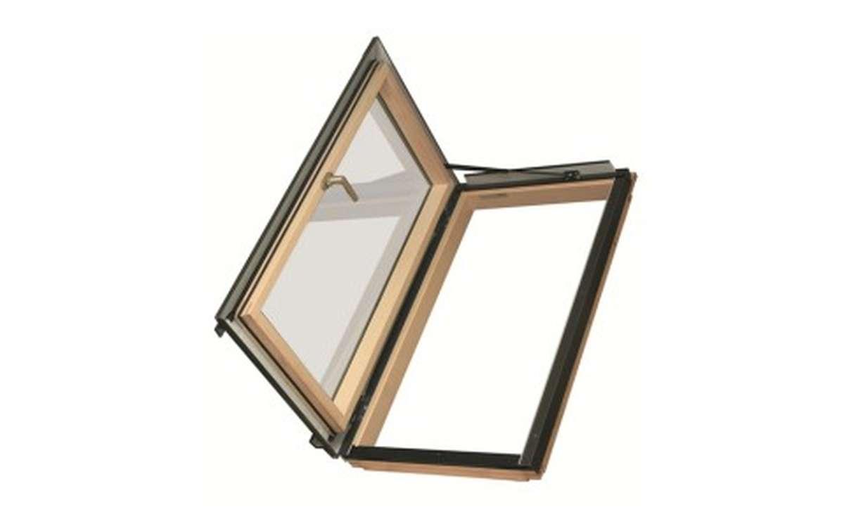 Мансардное окно распашное для отапливаемых помещений FAKRO FWR-U3 (ручка справа) 66x98