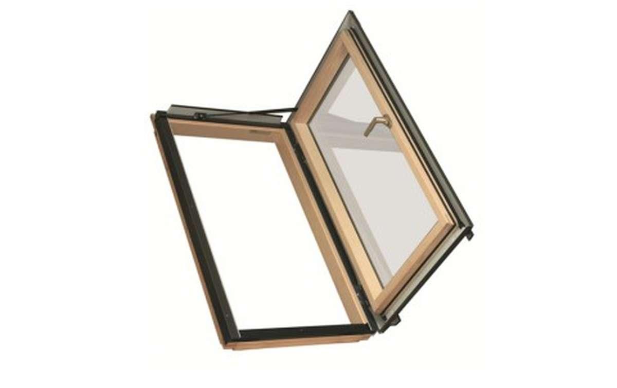 Мансардное окно распашное для отапливаемых помещений FAKRO FWL-U3 (ручка слева)  55x98