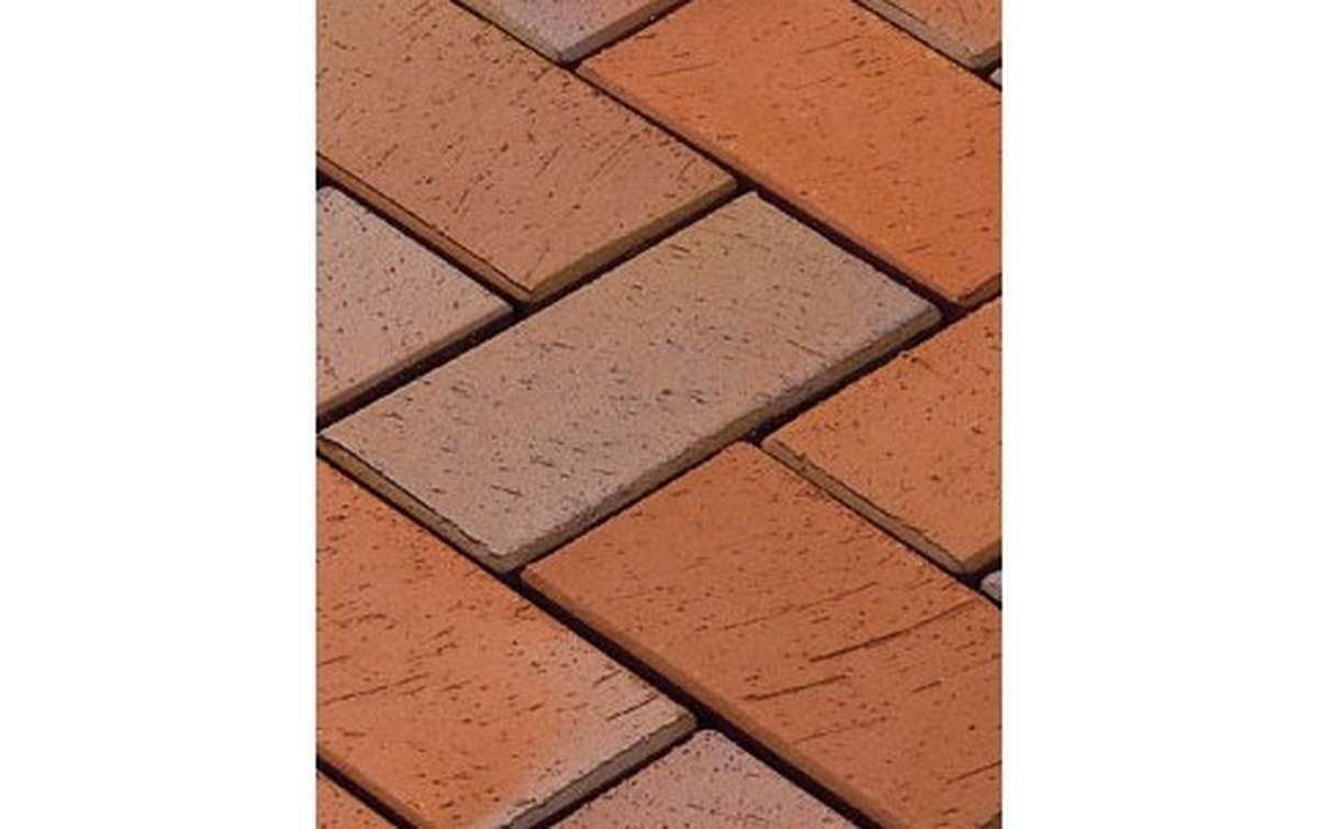тротуарная плитка vandersanden/сrh zittau 200x100x52 ,цвет красно-пестрый