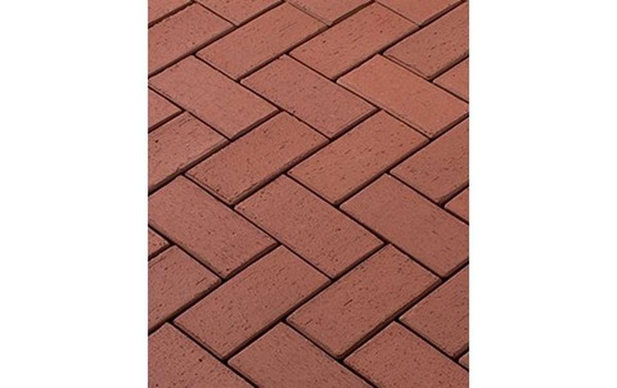 тротуарная плитка vandersanden/сrh cortona 200x100x52 ,цвет бордовый