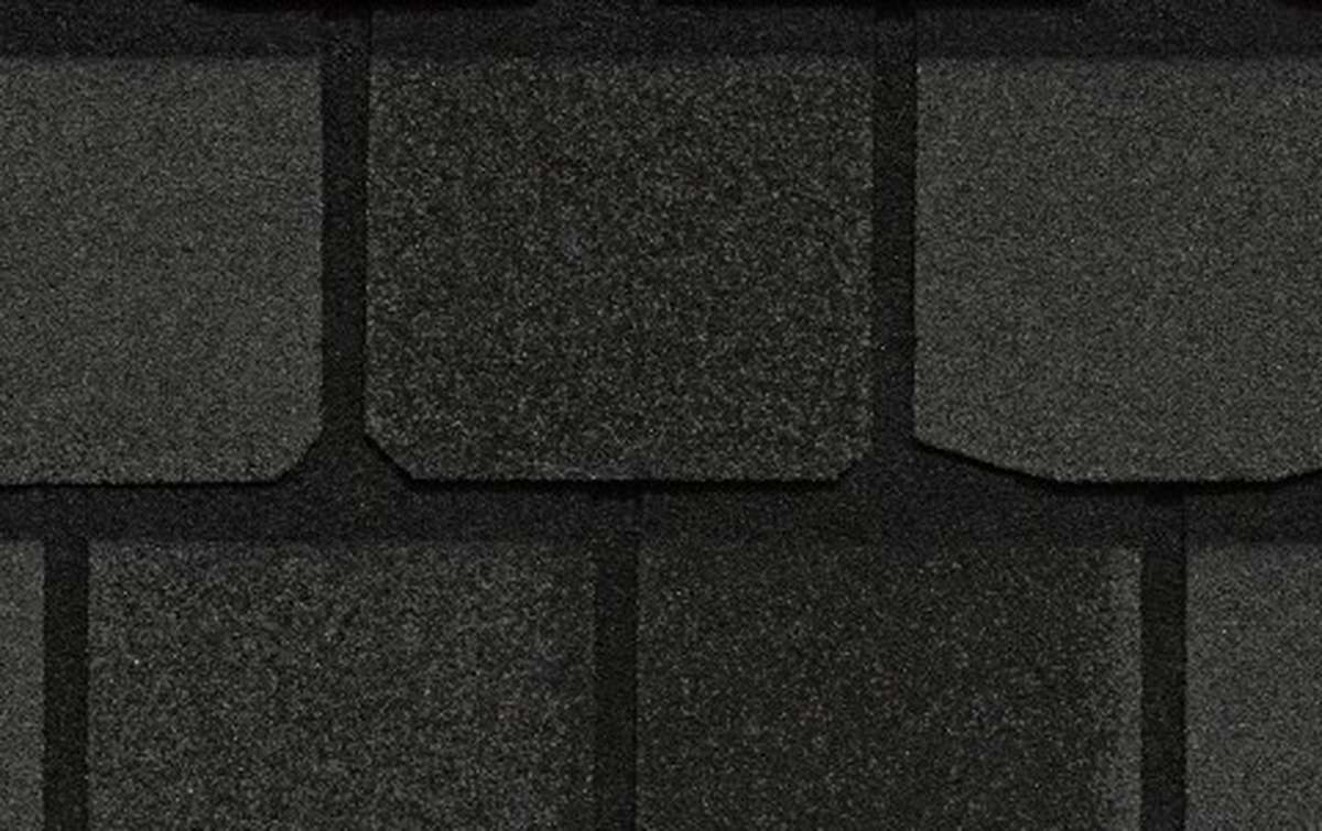 Гибкая черепица CertainTeed Highland Slate 2,98 кв.м однослойная  Black Granite