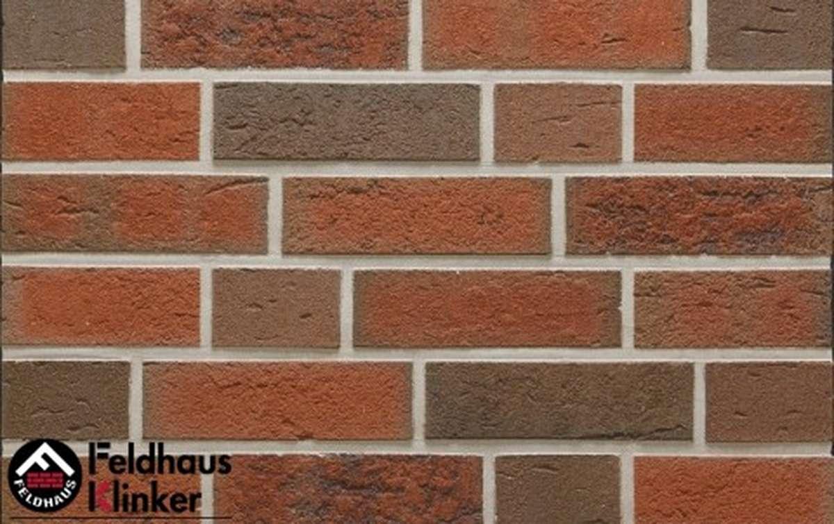 клинкерный кирпич Feldhaus Klinker lava maron rustico k377nf90 240x90x71