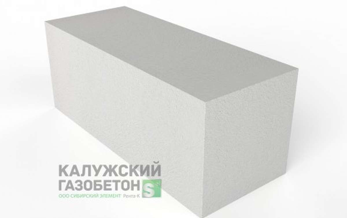 Блок стеновой теплоизоляционно-конструкционный Калужский газобетон D400 625x250x250