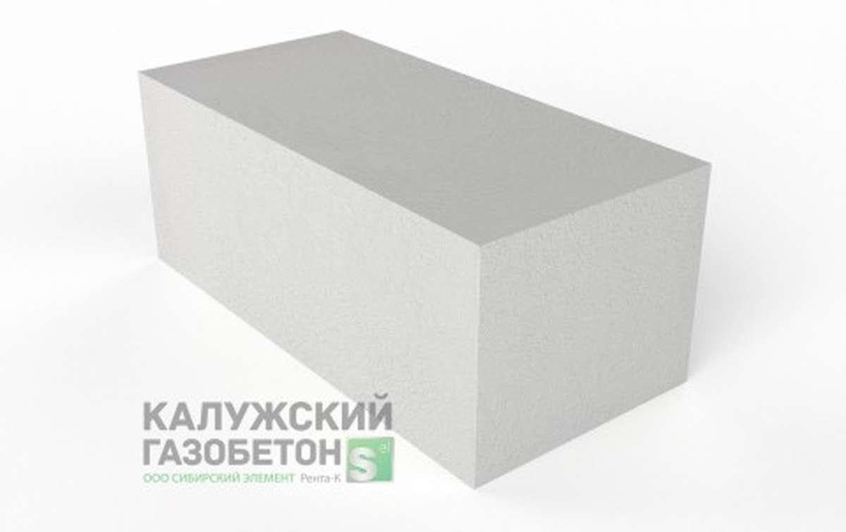 Блок стеновой теплоизоляционно-конструкционный Калужский газобетон D500 625x300x250