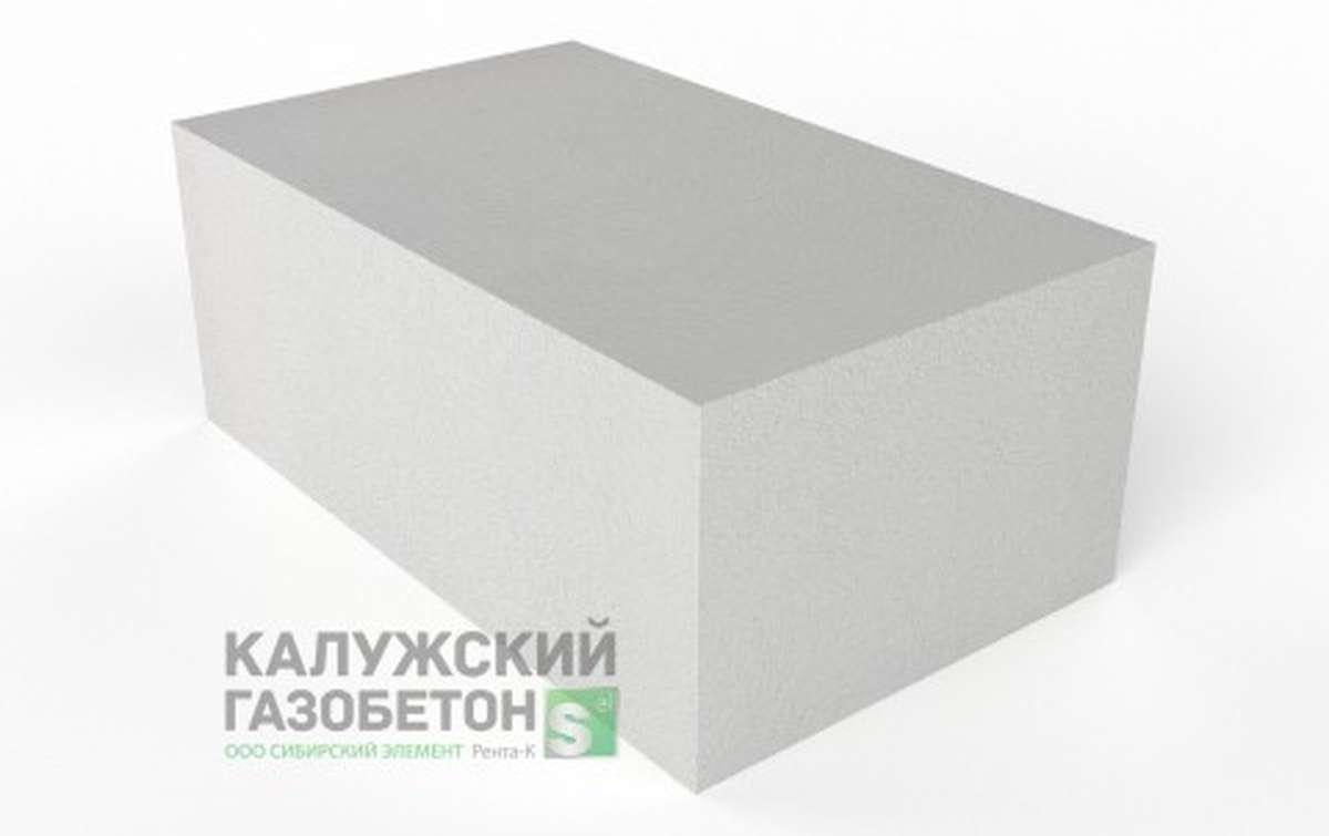 Блок стеновой теплоизоляционно-конструкционный Калужский газобетон D400 625x375x250