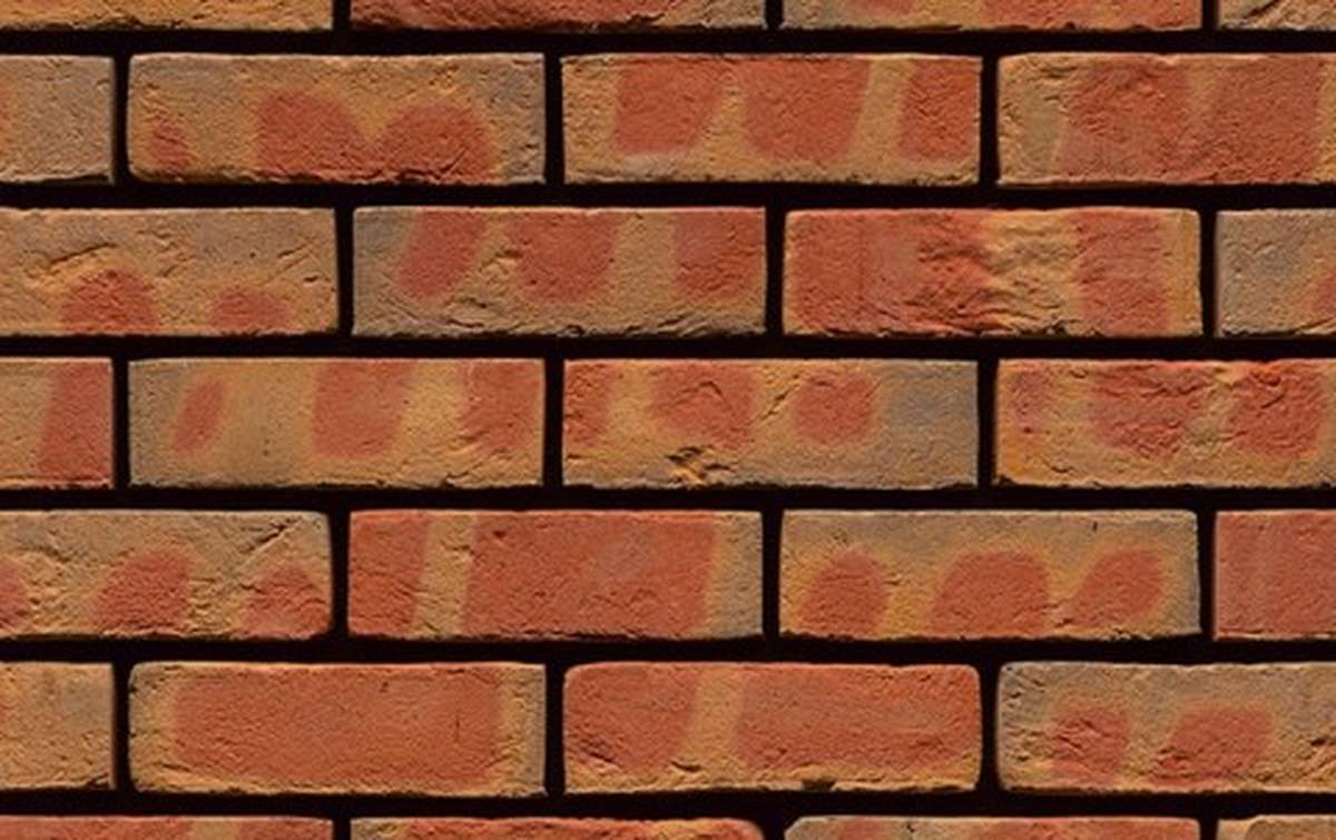 кирпич ручной формовки MUHR Nr. 62 Edwardian Multi Red, 215x102x65
