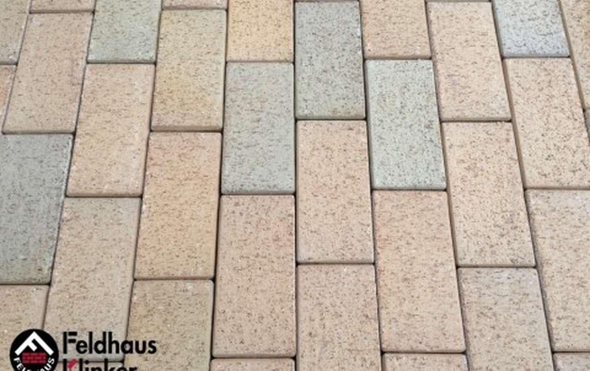 Тротуарная клинкерная плитка Фельдхаус Клинкер P203DF areno trigo 240x118