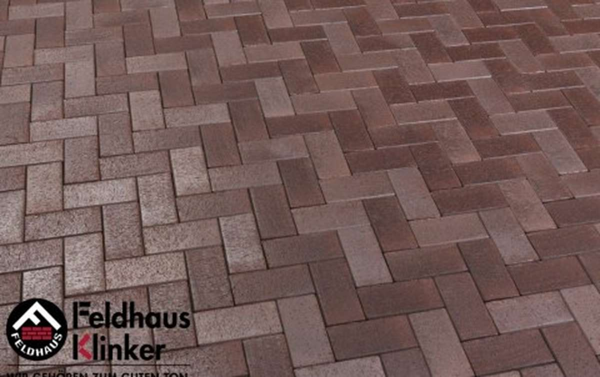 Тротуарная клинкерная плитка Фельдхаус Клинкер P409KDF gala ferrum 200x100