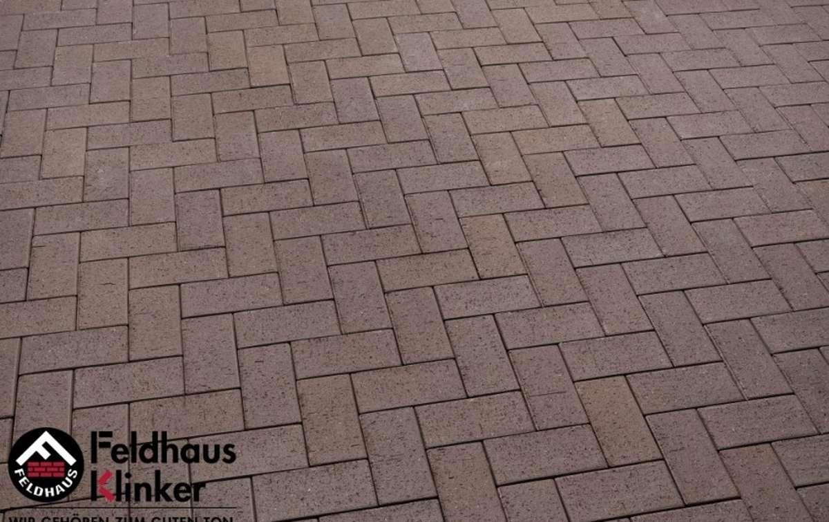 Тротуарная клинкерная плитка Фельдхаус Клинкер P502KF umbra plano 200x100
