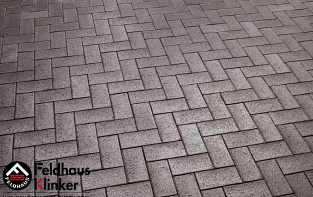 Тротуарная клинкерная плитка Фельдхаус Клинкер P609DF umbra ferrum 240x118