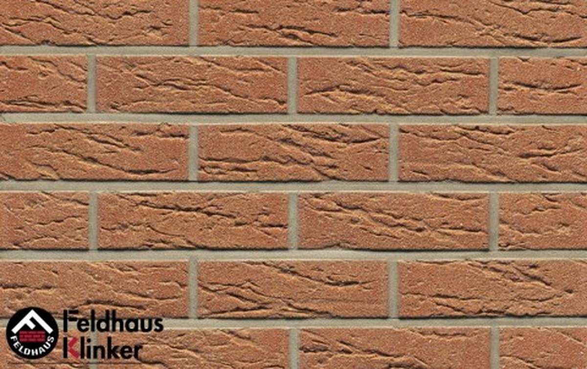 клинкерная плитка для фасада feldhaus klinker r214nf9 bronze mana 240x9x71