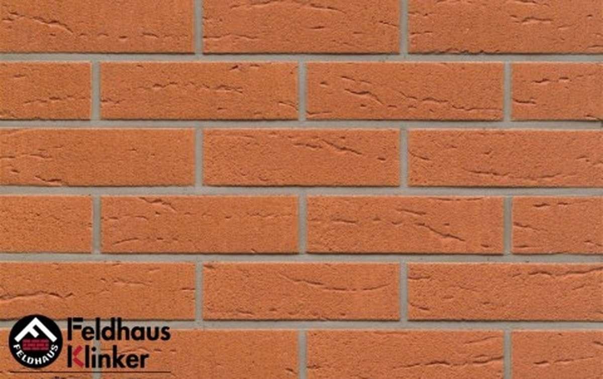 клинкерная плитка для фасада feldhaus klinker r227nf9 terracotta rustico 240x9x71