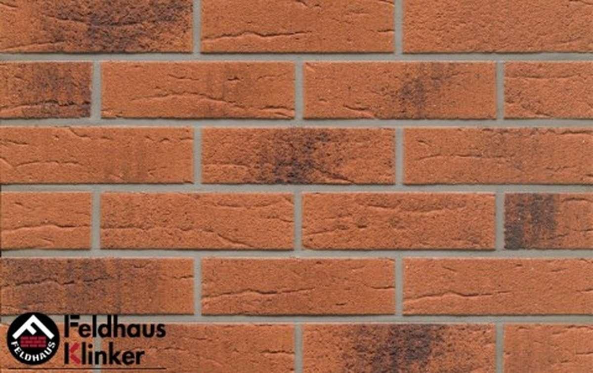 клинкерная плитка для фасада feldhaus klinker terracota rustico carbo r228nf9 240x9x71