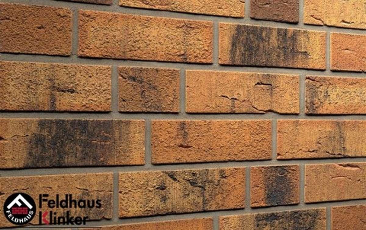 клинкерная плитка для фасада feldhaus klinker nolani viva rustico carbo r286nf9 240x9x71